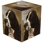 TB161-Springer Spaniel Tissue Box Cover