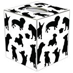 TB1703-Dog Silhouette Tissue Box Cover