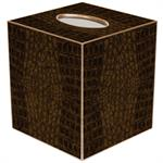 TB1704-Brown Crock Tissue Box Cover