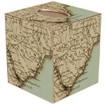 TB1708- South Carolina Antique Map Tissue Box Cover