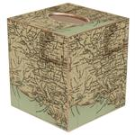 TB1718-Louisiana Coast Antique Map Tissue Box Cover