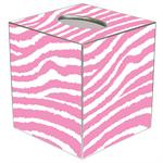 TB1731--Strawberry and White Zebra Tissue Box Cover