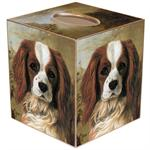 TB175-King Charles Tissue Box Cover
