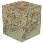TB1821-Long Island Antique Map Tissue Box Cover