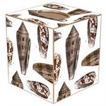 TB1847-Brown Island Shells Tissue Box Cover
