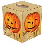 TB185- Jack O'Lantern Tissue Box Cover