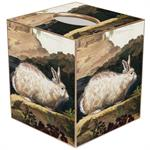 TB188-White Rabbit Tissue Box Cover