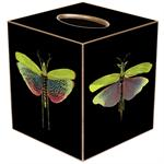 TB19-Dragonflies on Black Tissue Box Cover