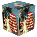 TB190-Old Glory Tissue Box Cover