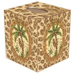TB222-Monkey & Palm Tree with Leopard Tissue Box Cover