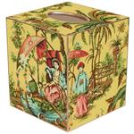 TB223-Yellow Chinois Tissue Box Cover