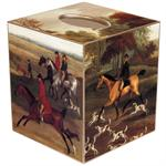 TB227-Fox Hunt Scene Tissue Box Cover