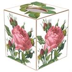 TB245-Pink Cabbage Rose Tissue Box Cover