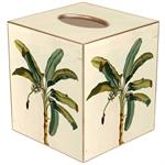 TB2450- Antique Palm Tree Tissue Box Cover