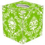 TB2533 - Lime Damask Tissue Box Cover