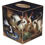 TB26-Four Bunnies Tissue Box Cover