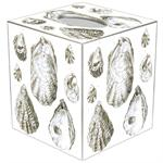 TB2708-Antique Oyster Shells Tissue Box Cover