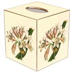 TB272- Lily on Creme Tissue Box Cover