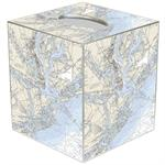 TB2746- Charleston, South Carolina Nautical Chart Map Tissue Box Cover