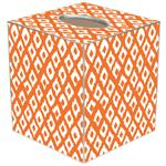 TB2810-Ikat Orange Tissue Box Cover