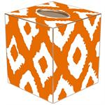 TB2823- Grande Ikat Orange Tissue Box Cover