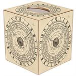 TB2841-Vintage Astronomical Clock Tissue Box Cover