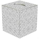 TB2844 - Berkley silver Tissue Box Cover
