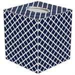 TB2857-Chelsea Navy Tissue Box Cover