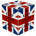 TB2875 - Keep Calm Union Jack Tissue Box Cover
