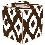 TB2901 - Brown Grande Ikat Tissue Box Cover