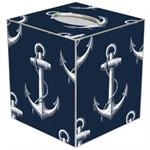 TB2977-Vintage Anchor Navy Tissue Box Cover