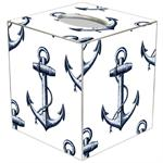 TB2978-Vintage Anchor White Tissue Box Cover