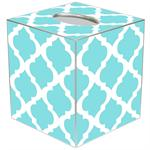 TB2984 - Aqua Chelsea Grande Personalized Tissue Box Cover