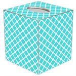 TB2997-Chelsea Turquoise Tissue Box Cover