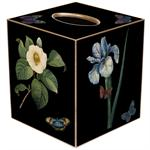 TB2-Black White Floral Tissue Cover Box