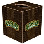 TB3102-Baylor Athletics on Brown Crock Tissue Box cover