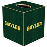 TB3111-Gold Baylor on Green Crock Tissue Box Cover