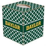TB3112-Gold Baylor on Green Chelsea Tissue Box Cover