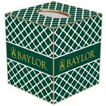 TB3113-Gold Baylor with Judge Baylor on Green Chelsea Tissue Box Cover