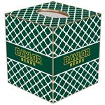 TB3117-Gold Baylor Bears on Chelsea Tissue Box Cover