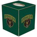 TB3118-Baylor Bears on Green Crock Tissue Box Cover
