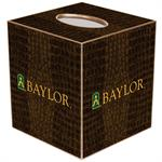 TB3122-Gold Baylor on Green Chelsea Tissue Box Cover