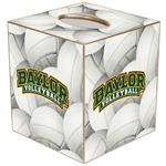 TB3126-Baylor Arched Volleyball Tissue Box Cover