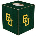 TB3128-Interlocking BU on Green Crock Tissue Box Cover