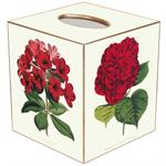 TB341-Red Flowers Tissue Cover Box