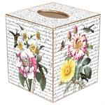 TB355-Floral Bouquets with Hummingbirds Tissue Box Cover