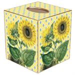 TB397-Sunflower on Yellow Provencial Tissue Box Cover