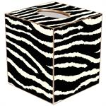 TB433-Black and White Zebra Tissue Box Cover