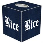 TB4600-Rice University Tissue Box Cover