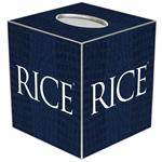 TB4601-Rice University Tissue Box Cover